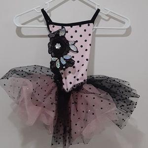 Weissman black & pink tutu/leotard